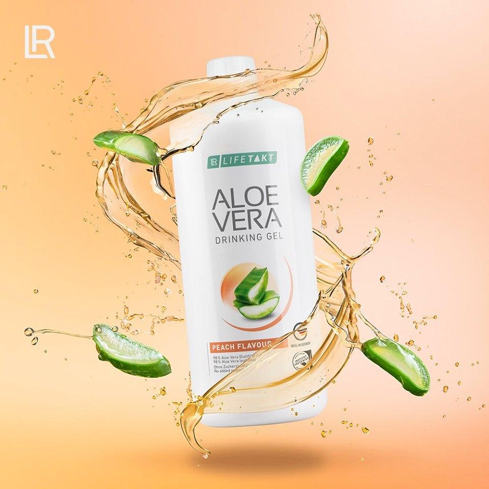 LR LIFETAKT ALOE VERA DRINKING GEL Peach Flavour Aloesowy Żel do Picia Brzoskwiniowy