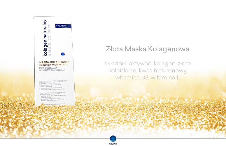Maski kolagenowe z Nanozłotem Colway Kolagen Złoto Koloidalne